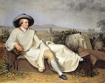 Goethe in the Roman Campagna 1787 - Johann Heinrich Wilhelm Tischbein reproduction oil painting