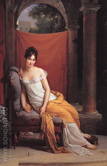 Madame Recamier 1802 - Francois Gerard reproduction oil painting