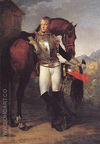 Portrait of The Second Lieutenant Charles Legrand c1810 - Antoine Jean Gros reproduction oil painting
