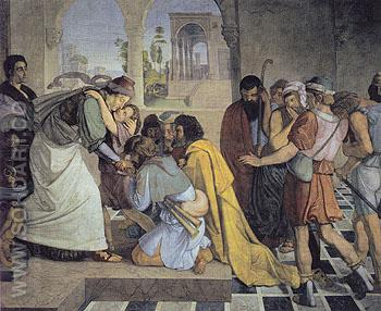 Joseph Reveals himself to his Brothers c1816 - Peter von Cornelius reproduction oil painting