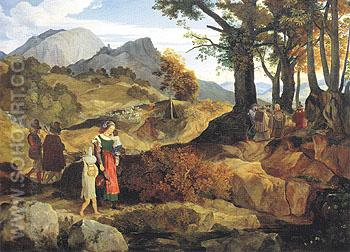 Ideal Landscape near Rocca Canterana 1818 - Carl Philipp Fohr reproduction oil painting