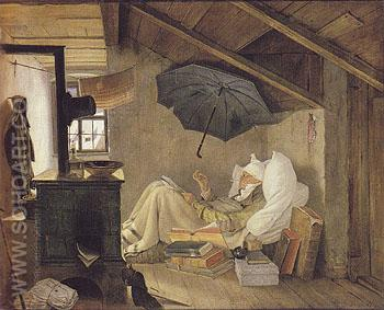 The Poor Poet 1839 - Carl Spitzweg reproduction oil painting
