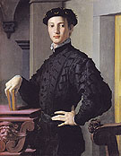 Portrait of a Young Man c1540 - Agnolo Bronzino reproduction oil painting