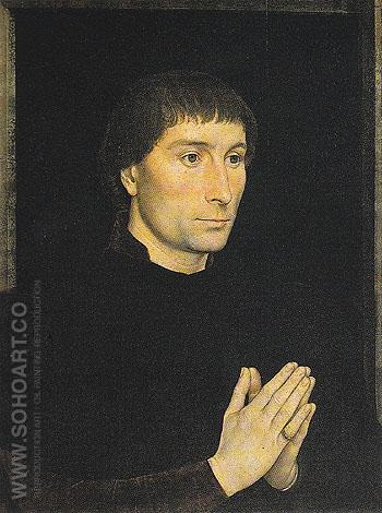 Portrait of Tommaso Portinari 1470 - Hans Memlinc reproduction oil painting