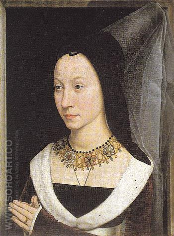 Portrait Wife of Tommaso Portinari 1470 - Hans Memlinc reproduction oil painting
