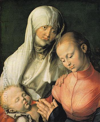 Virgin and Child with Saint Anne 1519 - Albrecht Durer reproduction oil painting
