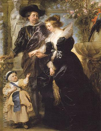 Rubens His Wife Helena Fourment and Their Son Peter Paul c1639 - Peter Paul Rubens reproduction oil painting