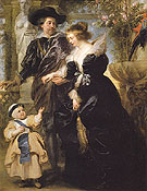 Rubens His Wife Helena Fourment and Their Son Peter Paul c1639 - Ruebens