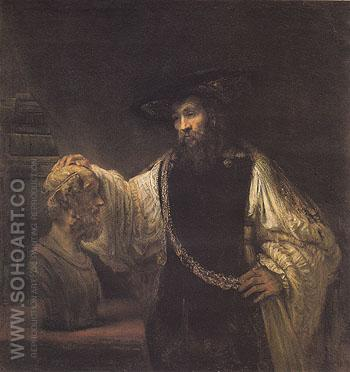 Aristotle with a Bust of Homer 1653 - Rembrandt Van Rijn reproduction oil painting