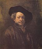 Self Portrait 1660 - Rembrandt Van Rijn reproduction oil painting