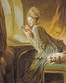 The Love Letter 1770 - Jean-Honore Fragonard reproduction oil painting
