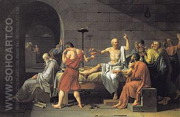 The Death of Socrates 1787 - Jacques Louis David reproduction oil painting