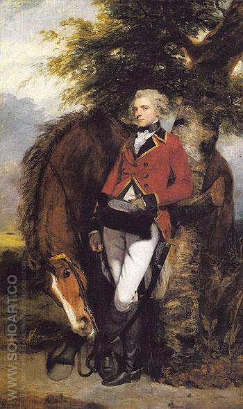Colonel George K H Coussmaker Grenadiel Guards 1782 - Sir Joshua Reynolds reproduction oil painting