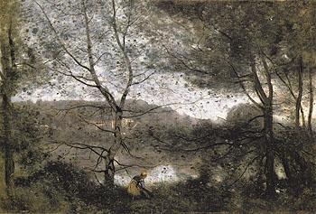 Ville DAvray - Jean-baptiste Corot reproduction oil painting