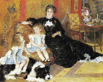 Madame Georges Charpentier and Her Children 1878 - Pierre Auguste Renoir reproduction oil painting