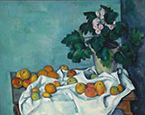 Still Life with Apples and a Pot of Primroses c1890 - Paul Cezanne