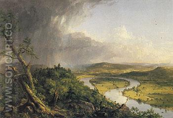 View from Mount Holyoke Northampton Massachusetts after a Thunderstorm 1836 - Thomas Cole reproduction oil painting