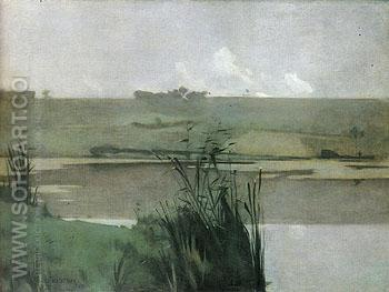 Arques La Bataille 1885 - John Henry Twachtman reproduction oil painting