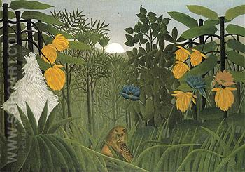 The Repast of the Lion c1907 - Henri Rousseau reproduction oil painting