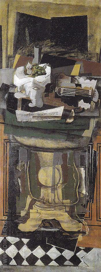 The Gueridon c1921 - Georges Braque reproduction oil painting