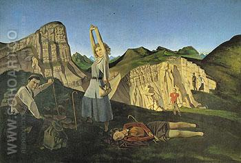 The Mountain 1937 - Balthus reproduction oil painting