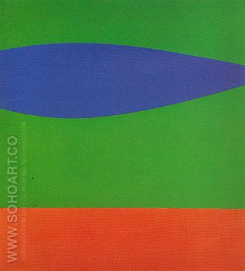 Blue Green Red c1962 - Ellsworth Kelly reproduction oil painting