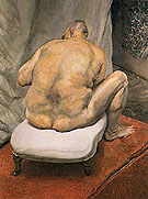 Naked Man Back View c1991 - Lucien Freud