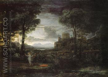 Night 1672 - Claude Gellee reproduction oil painting
