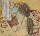 Woman at Her Toilette 1889 - Edgar Degas reproduction oil painting