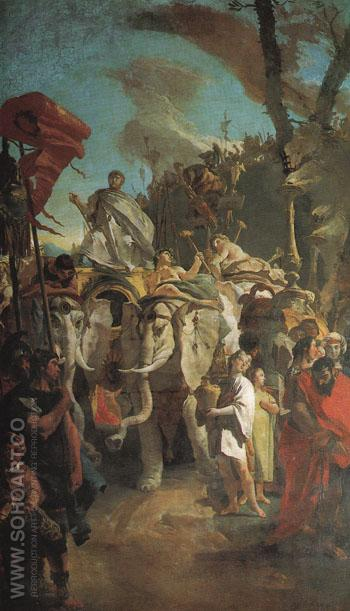 The Triumph of Aurelian - Giovanni Barrista Tiepolo reproduction oil painting