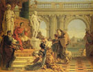 Maecenas Presenting the Liberal Arts to the Emperor Augustus c1745 - Giovanni Barrista Tiepolo reproduction oil painting
