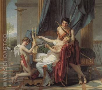 Sappho and Phaon 1809 - Jacques Louis David reproduction oil painting