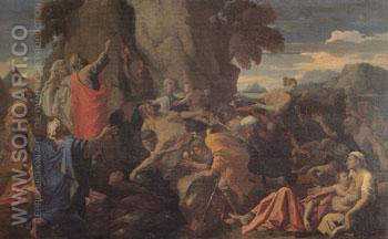 Moses Striking the Rock 1649 - Nicolas Poussin reproduction oil painting