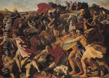 Joshuas Victory over the Amalekites c1625 - Nicolas Poussin reproduction oil painting