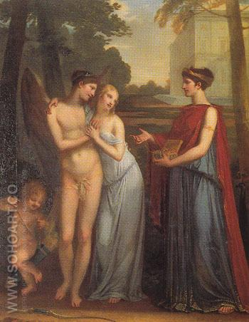 Innocence Choosing Love over Wealth 1804 - Pierre Paul Prudhon reproduction oil painting