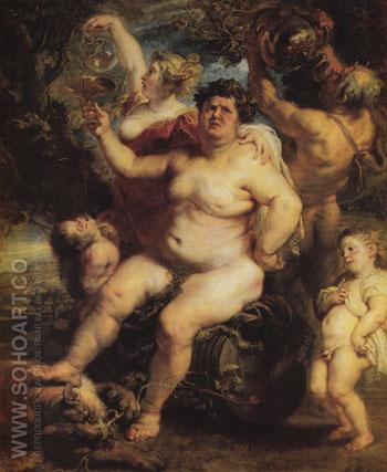 Bacchus c1638 - Ruebens reproduction oil painting