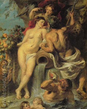 The Union of Earth and Water c1618 - Peter Paul Rubens reproduction oil painting