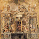 The Temple of Janus c1635 - Ruebens reproduction oil painting