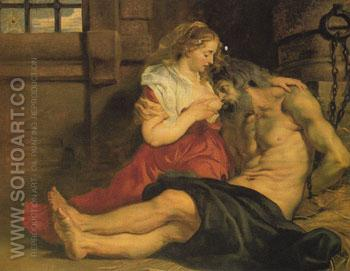A Roman Womans Love for Her Father c1612 - Peter Paul Rubens reproduction oil painting