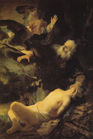Abraham and Isaac 1634 - Rembrandt Van Rijn reproduction oil painting