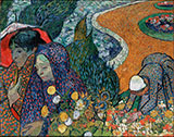 Ladies of Arles Memory of the Garden at Etten 1888 - Vincent van Gogh reproduction oil painting