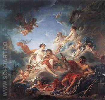 Vulcan Presenting Venus with Arms for Aeneas 1757 - Francois Boucher reproduction oil painting