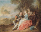 Flute Recital - Jean Baptiste Pater reproduction oil painting