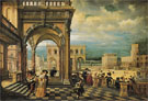Italian Palace 1623 - Hendrik van Steenwyck The Younger reproduction oil painting
