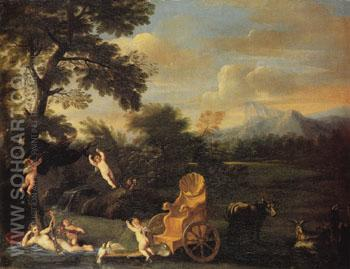 The Repose of Venus - Domenichino reproduction oil painting