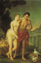Mars and Venus 1768 - Joseph Marie Vien reproduction oil painting