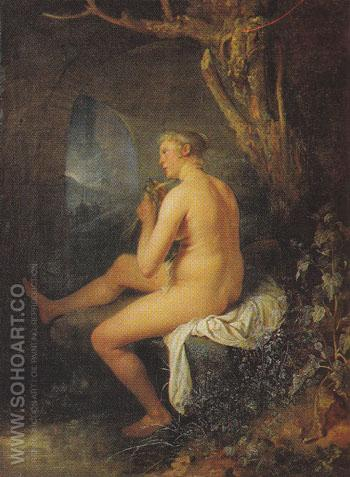 Bather 2 c1660 - Gerrit Dou reproduction oil painting