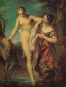 Bather c1724 - Francois Lemoine reproduction oil painting
