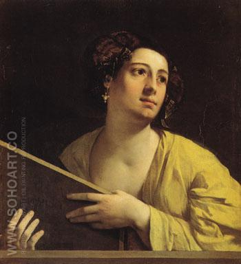 Sibyl c1516 - Dosso Dossi reproduction oil painting