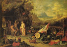 Venus at Vulcans Forge - Jan van Kessel reproduction oil painting